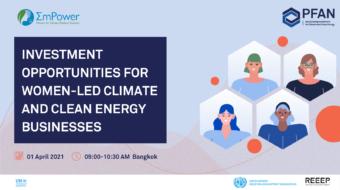 Webinar – Investment Opportunites for Women-led Clean Energy Businesses
