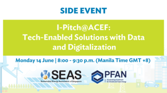I-Pitch@ACEF: Tech-Enabled Solutions with Data and Digitalization