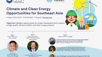 Webinar – Climate and Clean Energy Opportunities for Southeast Asia