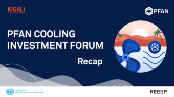 Five PFAN-supported projects meet potential investors at the first PFAN Cooling Investment Forum
